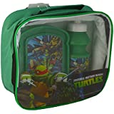 Teenage Mutant Ninja Turtles 3-Piece Lunch Bag/ Bottle and Sandwich Box, Set of 3