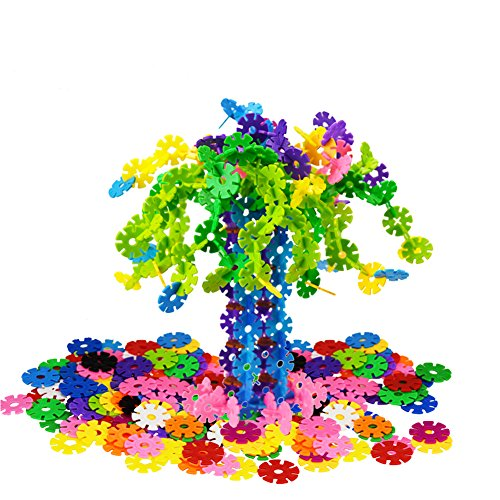 QIYO(TM) Snowflakes Connect - An Engineering Toy - Promotes Fine Motor Skills Development - Great Imagination Toy for 4+ Year Olds - Best Ideal Christmas Gift for Boys and Girls(150PCS) (Gifts For 4 Yr Old Girls compare prices)
