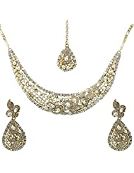 Krishnas Pearl Stone Color Necklace Sets For Women-KT052