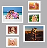 UberLyfe Elegant White Photo Frame Collage Collection - Set of 6 (PF-000713-CLG-WT6PC)