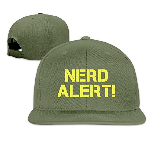 Runy Custom Nerd Alert Adjustable Baseball Hat & Cap ForestGreen (Pepsi Jelly Beans compare prices)