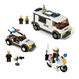 Building Block Police Patrol & Prisoner Transporter Set Compatible With Lego