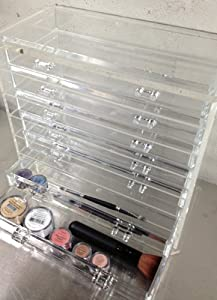 Sheer Miracle Celebrity Style Crystal Clear Acrylic Makeup Cosmetic Organizer Display *12
