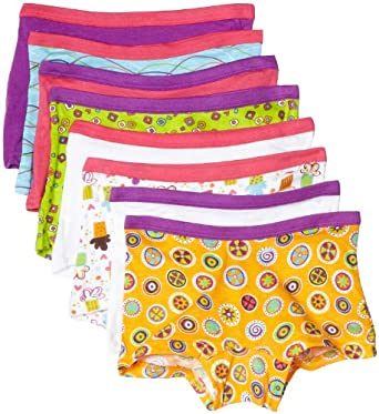 94ba5f9cd0fe Fruit of the Loom Girls' Boyshort, 8 pk-Multicolor