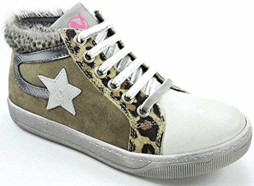 Naturino 001200962003, Sneaker bambine Marrone marrone, Marrone (marrone), 34 EU