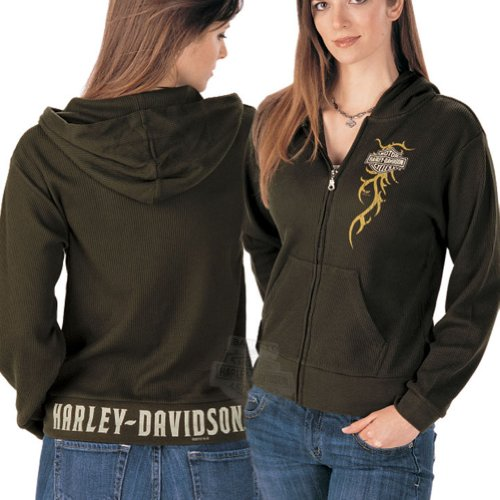Harley-Davidson Womens Full Zip Thermal H-D Band Hoodie Small