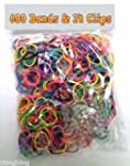 Refill for Loom Bands 600 Bands & 24...