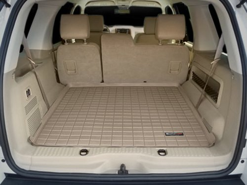 2004 2010 ford explorer tan weathertech cargo liner for vehicles equipped with 3rd row seating. Black Bedroom Furniture Sets. Home Design Ideas