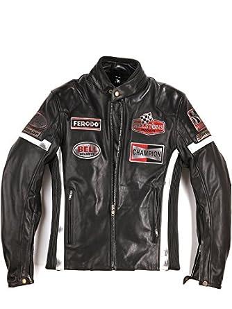 Helstons - Blouson cuir moto homme GTSEVEN ref_helstons34092-noir