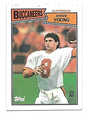 STEVE YOUNG 1987 Topps #384 Card San Francisco 49ers Tampa Bay Buccaneers Football