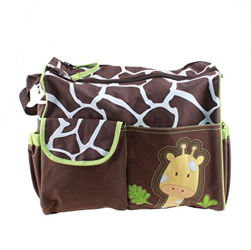 Agptek® Large Capacity Baby Diaper Nappy Changing Mat Mummy Tote Handbag - Green Giraffe