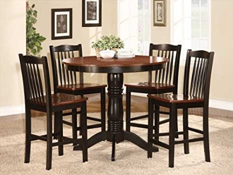 Andover 5 PC Counter Height Dining Table Set by Homelegance in Black