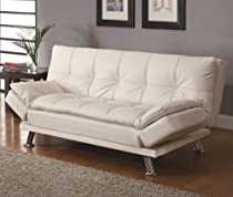 Big Sale Contemporary White Adjustable Futon Sofa Bed