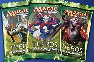 3 Booster Packs Of Theros Boosters Pack - Magic the Gathering ccg MTG X3