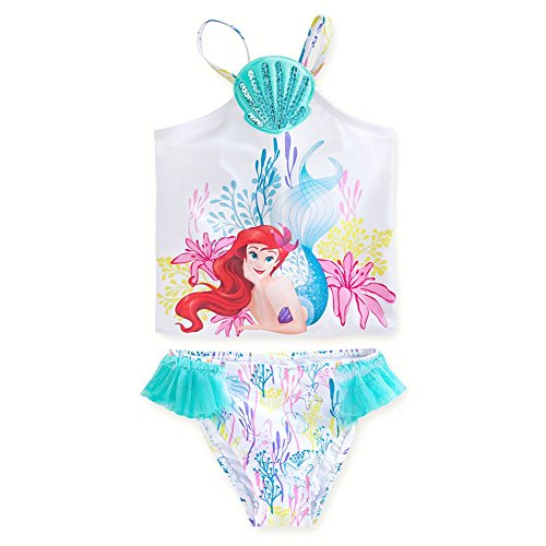 Disney Store Ariel The Little Mermaid Swimsuit 2-Piece Tankini Size Small 5/6-5T