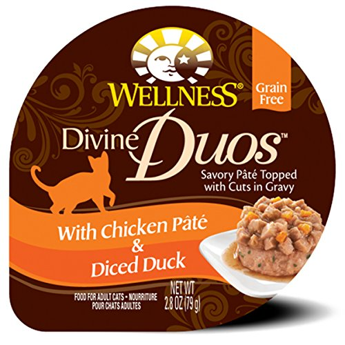 Wellness Divine Duos Grain Free Chicken & Duck Natural Wet Cat Food, 2.8-Ounce Cup (Pack of 24)
