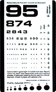 "Grafco Pocket Size Plastic Eye Chart, 6 3/8"" x 3 1/2"" Model # 1243"