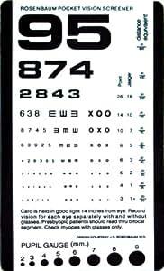 "Grafco Pocket Size Plastic Eye Chart, 6 3/8"" x 3 1/2"" Model # 1243"