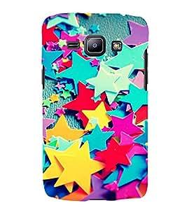 Multi colour Stars 3D Hard Polycarbonate Designer Back Case Cover for Samsung Galaxy J1 2016 :: Samsung Galaxy J1 2016 Duos :: Samsung Galaxy J1 2016 J120F :: Samsung Galaxy Express 3 J120A :: Samsung Galaxy J1 2016 J120H J120M J120M J120T