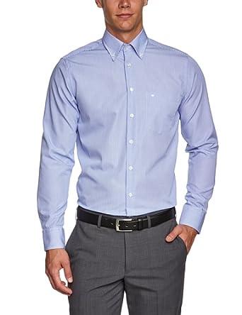 Seidensticker Herren Businesshemd Regular Fit 185172, Gr. 39, Blau (13 hellblau)