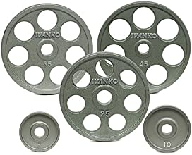 Ivanko 12625 lb E-Z Lift Cast Iron Olympic Plate Package Deal