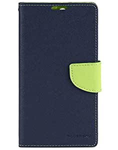 Friends Accessories Flip Cover for Sony Xperia C5 (Navy Blue & Green)