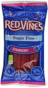 Sugar Free Vines, Strawberry, 5-Ounce Bags (Pack of 12)
