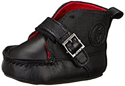 Ralph Lauren Layette Ranger High Bootie (Infant/Toddler),Black,0 M US Infant