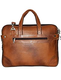 Hidekin - Medusae-I The Most Popular Designs In Our Range Tan Color Leather Laptop Bag.
