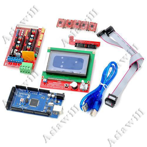 Asiawill® 3D Ramps1.4 3D Control Board Set (Lcd12864 + 2560 R3 Board+ 3D 1.4 Control Board + 4988 Driver Boards)