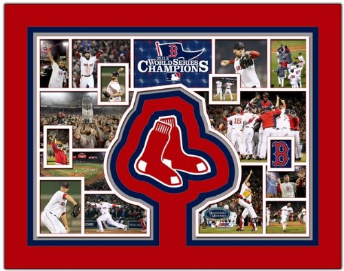 "Boston Red Sox 2013 World Series Champions Photo Collage 11"" x 14"" Matted at Amazon.com"