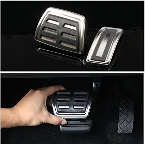 9 MOON acciaio inox pedale per Volkswagen VW GOLF 7 GTi MK7 Automatic, solo per guida a sinistra da Auto