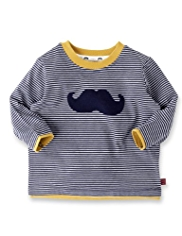 Autograph Pure Cotton Moustache T-Shirt