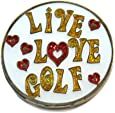 Navika Live Love Golf Glitzy Ball Marker with Hat Clip