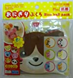 DAISO Rice Ball Pack | Animal-face Shape, 6 pcs (6 designs), includes fastening stickers (Japan Import)