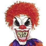 """Clown Maske Evil Red - Maske aus Latex, mit roten Lockenhaarenvon """"Close Up"""""""