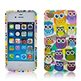Apple iPhone 4 4S TPU SILICON LITTLE OWL Design protection phone case bag shock Bumper thematys®