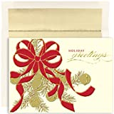 Golden Holiday Bells Christmas Cards