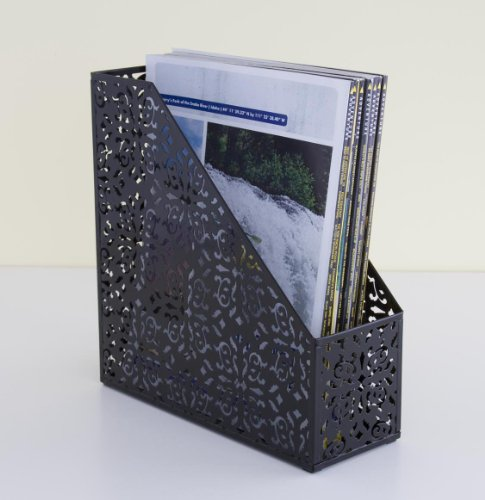 Design Ideas Brocade Magazine File, Black