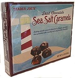 Trader Joe's Chocolate Covered Sea Salt Butterscotch and Dark Chocolate Peanut Butter Salted Caramel Truffles