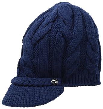calvin klein s cable cabbie hat with lurex stripe