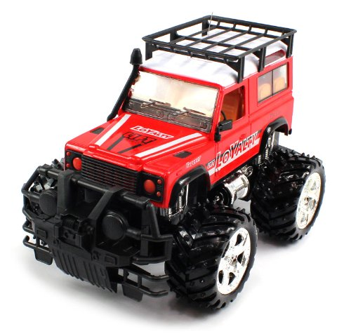 BIG SIZE RECHARGEABLE Electric Full Function 1:16 Conqueror Toyota Land Cruiser RTR RC Truck (COLORS MAY VARY) Remote Control Monster Truck!
