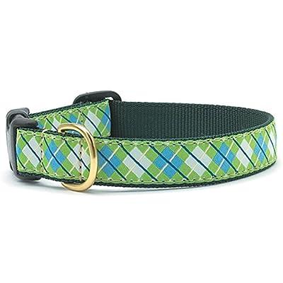Blue & Green Argyle Dog Collar
