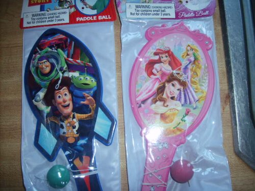 Disney Paddle Ball Game Set - Disney Princess & Toy Story, One Each in Set - 1