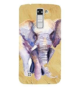 PrintVisa Elephant Art Design 3D Hard Polycarbonate Designer Back Case Cover for LG K7