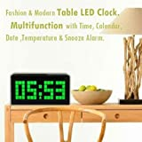 ECVISION Digital Large Big Number Jumbo LED Snooze wall desk Alarm clock timer with count down-Green Light