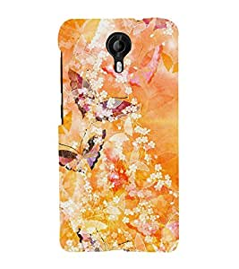 Butterfly Design Cute Fashion 3D Hard Polycarbonate Designer Back Case Cover for Micromax Canvas Nitro 4G E371