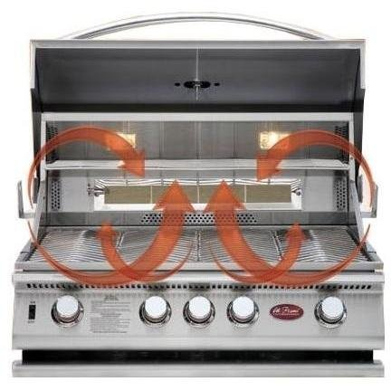 Weber S 660 >> Cal Flame 32-inch 4 Burner Convection Built-in Natural Gas Grill With Rotisserie (ships As ...
