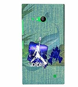 PrintVisa Sports Basketball 3D Hard Polycarbonate Designer Back Case Cover for Nokia Lumia 730