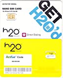H2O Wireless Nano Sim Card Starter Kit for Iphone 5 HTC One M8